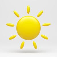 3d model sun icon