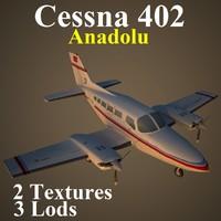 max cessna 402 aircraft