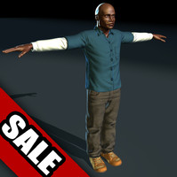 generic black male 3d model