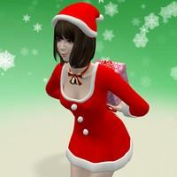 3d max posed mariko christmas