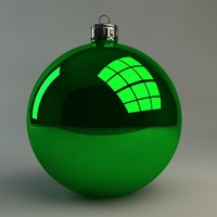 basic christmas ornament 3d model