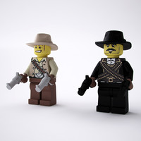 3d ged lego cowboy model