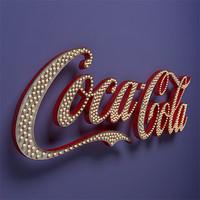 3d coca cola vintage sign