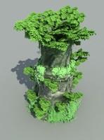 3d rock cliff