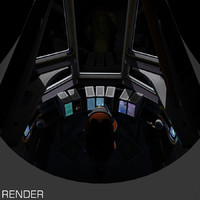 sci-fi space shuttle cockpit max