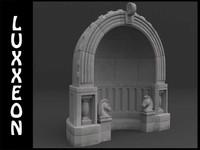 3d stone alcove model