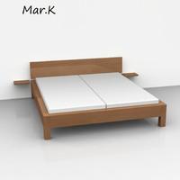 morgan double bed 3d c4d