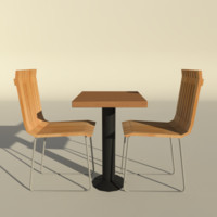 3ds max low-poly chair