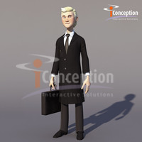 man cartoon business 3d ma