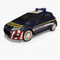 peugeot 308 gendarmerie 3d model
