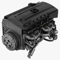 3d model bmw car engine