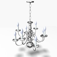3d model realistic chandelier