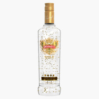 3d smirnoff gold vodka bottle