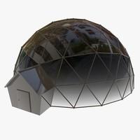 3d geodesic house