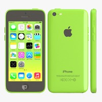 apple iphone 5c green 3d max