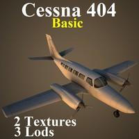 cessna 404 basic 3d model
