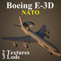 3d boeing nat aircraft 3