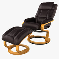 3d leather recliner ottoman swiveling