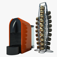 3d model nespresso u coffee