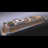 3d obj biggest cruise ship