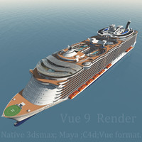 3d c4d biggest cruise ship