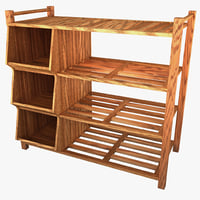 3d outdoor shoe rack