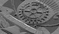 3d model rotary medal