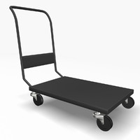 trolley cart 3d model