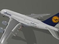 airbus a380-800 lufthansa a380 3d dxf