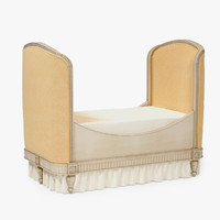 restoration hardware belle upholstered 3d max