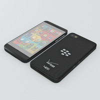 3d blackberry z10 10 model