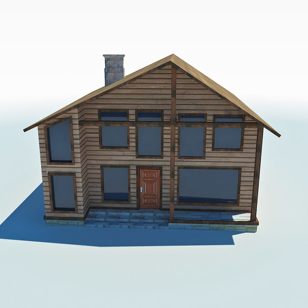3d model low-poly cottage - low poly cottage house 1... by Dukekom