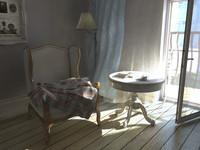 armchair vintage obj