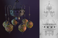3d moesia kandela lamp