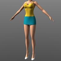 Clothing - Miniskirt & Singlet