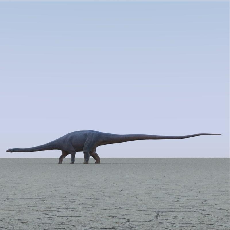Diplodocus And Kentrosaurus Models: Diplodocus Dinosaur Obj