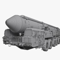 missile topol-m 3d model