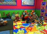 nursery child room 3d x