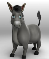 3d model cartoon donkey