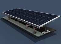 carport solar energy obj