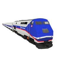 3ds max metro-north train locomotive