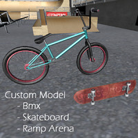 Extreme Arena Skateboard and bmx Package