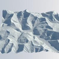 3d model terrain realistic
