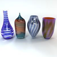 3d art glass vase model