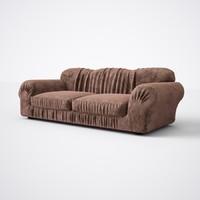 Sofa with pleats