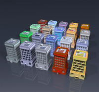 3d buildings colors
