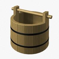 wood bucket 3d model