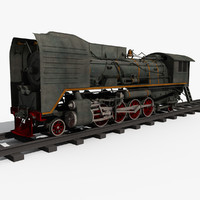train old steam 3d model