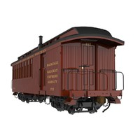 "Railroad Combination Baggage/Coach Car; ""D&RG Narrow Gauge"
