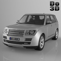 3d model land range rover